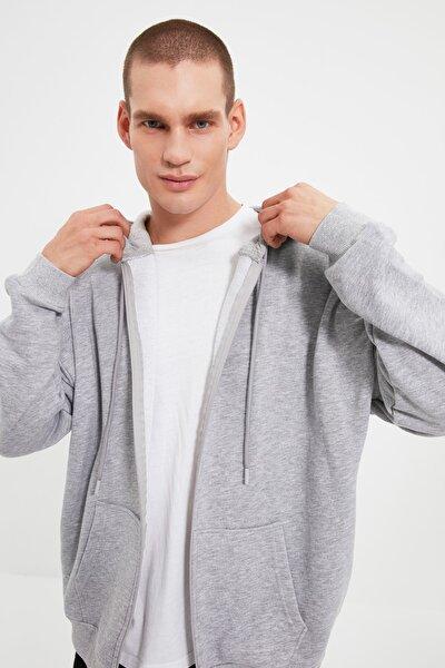 Gri Erkek Oversize Fit Sweatshirt TMNAW22SW0620