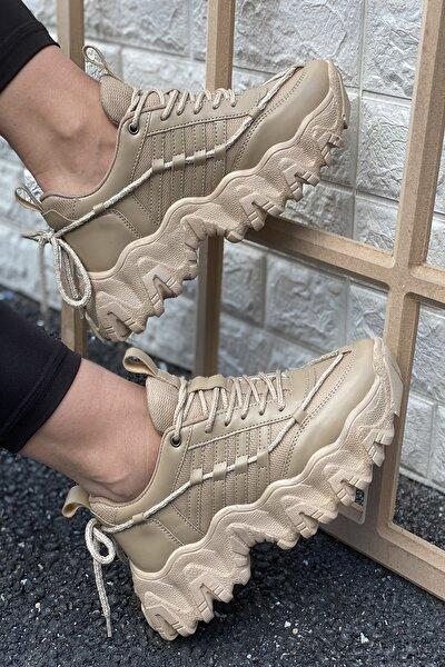Kadın Nude Cilt Sneakers