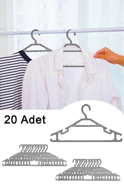 20'li Plastik Kıyafet Elbise Askısı