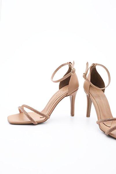 Kadın Abiye Topuklu Ayakkabı SaproBej