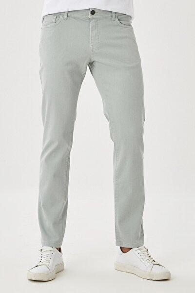 Erkek Su Yeşil 360 Derece Her Yöne Esneyen Rahat Slim Fit Pantolon