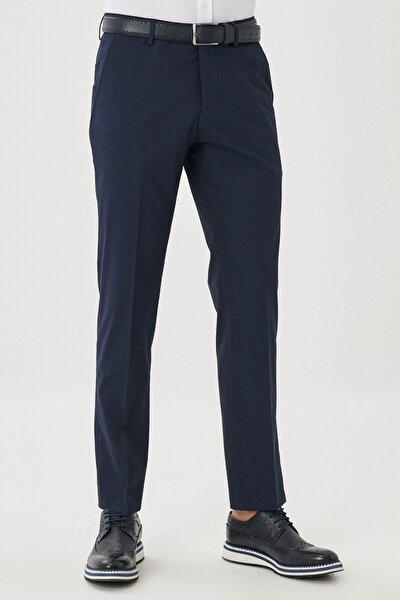Erkek Lacivert Regular Fit Klasik Pantolon