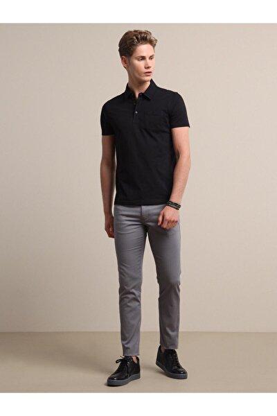 Erkek Siyah Düz Örme T - Shirt