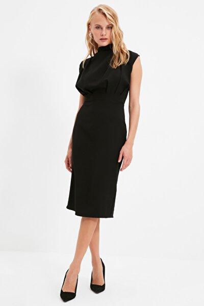 Siyah Dik Yaka Elbise TWOAW20EL0311