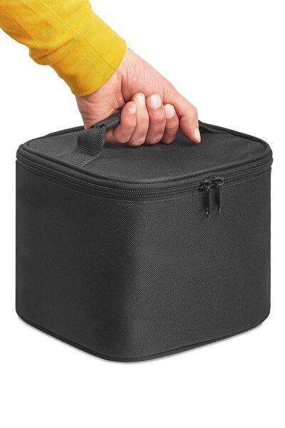 Yalıtımlı Yemek Taşıma Çantası Soğuk Sıcak Tutucu Sefer Tası Öğle Yemeği Yemek Kutusu Siyah