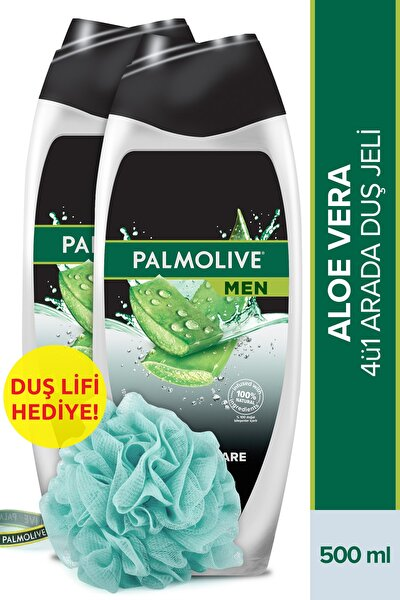Men Pure And Care Aloe Vera Ve E Vitamini Ile Duş Jeli 500 Ml X 2 Adet + Duş Lifi Hediye
