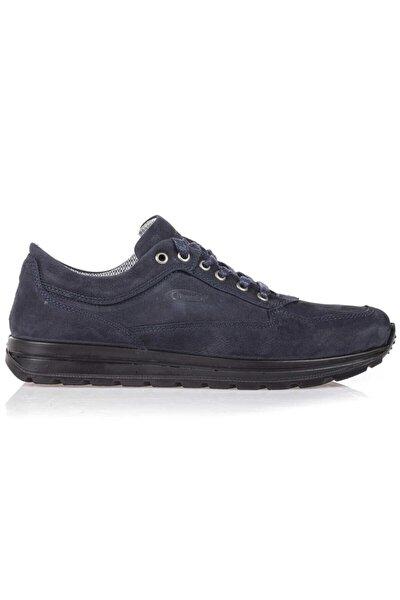 Su Geçirmez Deri Lacivert Erkek Günlük Ayakkabı M5661NL 41