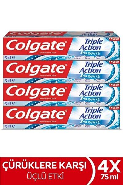 Üçlü Etki Extra White Beyazlatıcı Diş Macunu 75 Ml X4 Adet
