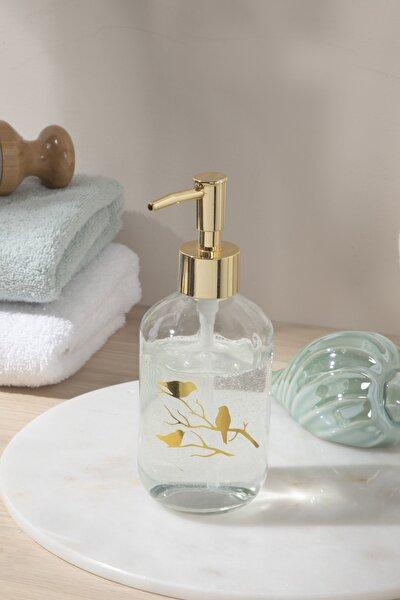Birdy Cam Banyo Sıvı Sabunluk 7x7x18 Cm Gold
