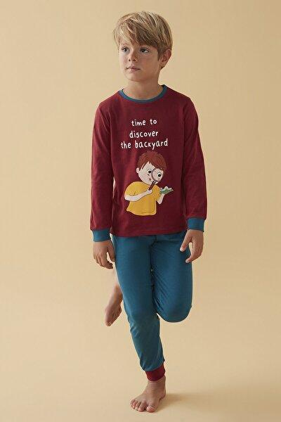 Çok Renkli Erkek Çocuk Backyard 4lü Pijama Takımı