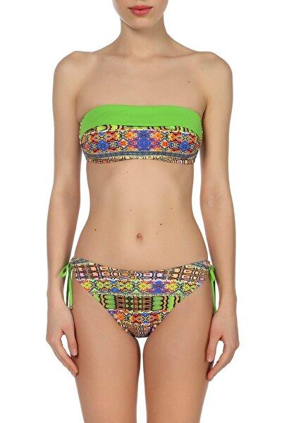 Kadın Desenli/Renkli Bikini Takımı ZB.1129-19
