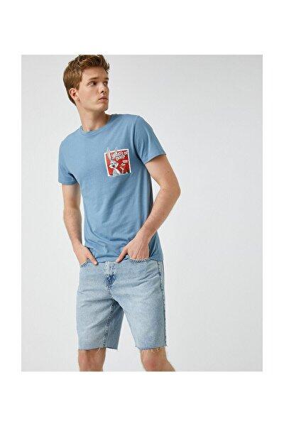 Erkek Açik Mavi T-Shirt 1YAM11686HK