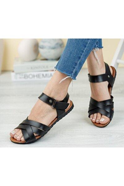 Gladyatör Kadın Sandalet Siyah
