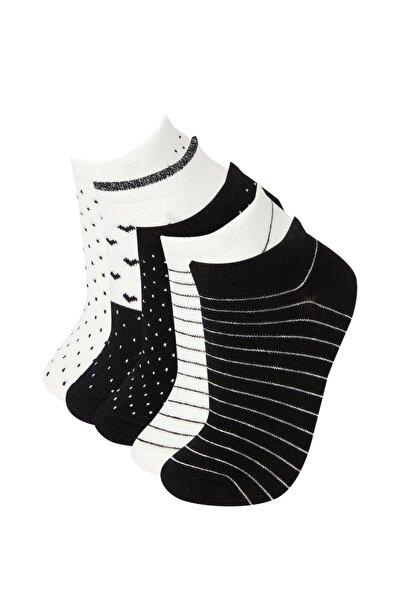 Kadın Çok Renkli Desenli 5'Li Patik Çorap L6596AZ21AU