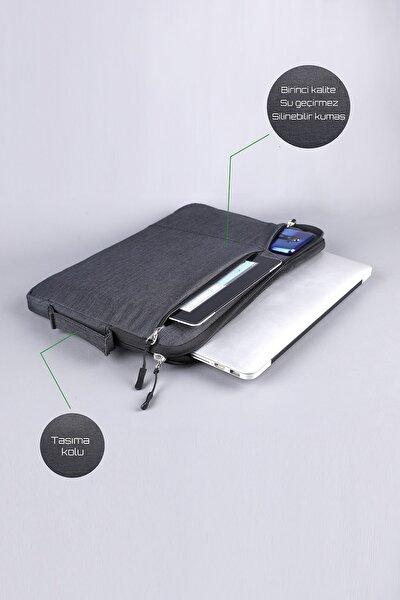 Clue Macbook Pro 15.6 & 16 Inç Darbeye Karşı Korumalı Su Geçirmez Laptop Kılıfı. Füme