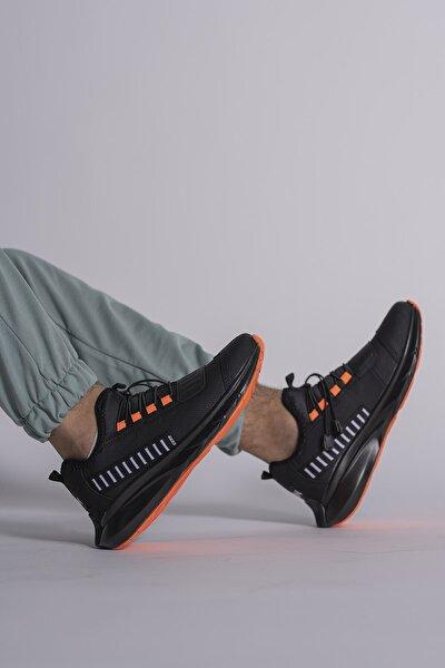 Siyah Turuncu Unisex Sneaker 0012865