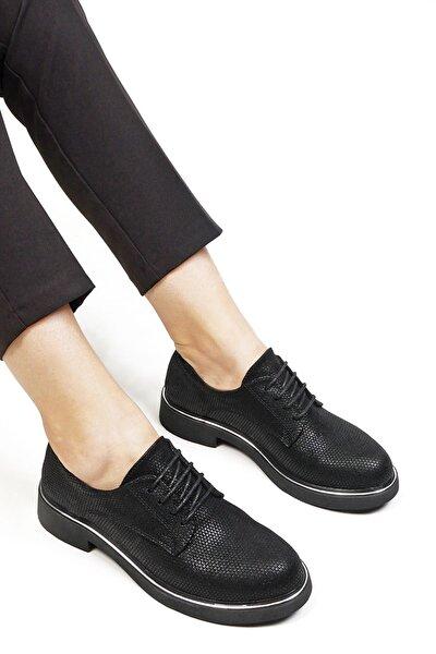 Kadın Oxford Ayakkabı Tervasiyah Petek