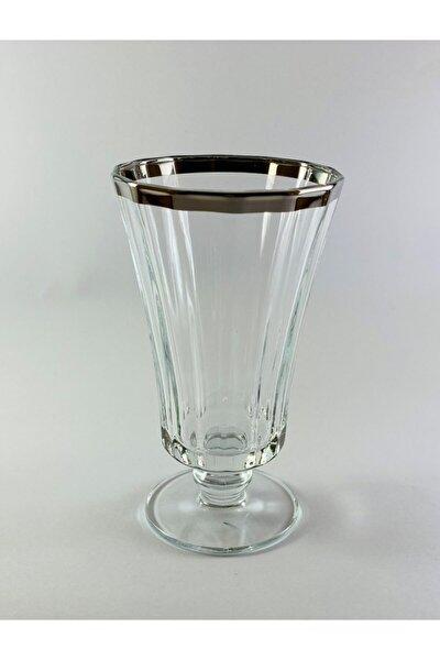 West Glass Platin Kaplama 6'lı Diamond Kahve Yanı Su Bardağı Likör Bardağı