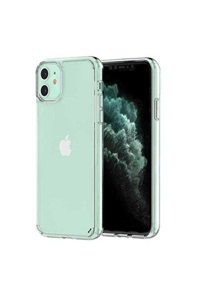 Apple Iphone 11 Kılıf Darbe Emici Sert Şeffaf Kristal Ince Tank Zırh Kapak Sararmaz