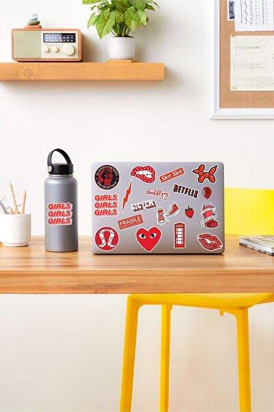 - Vsco Red Laptop Notebook Tablet Sticker Set 3