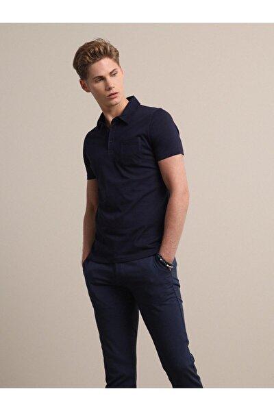 Erkek Lacivert Düz Örme T - Shirt KP10120794