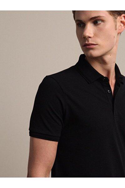 Erkek Siyah Düz Örme T - Shirt KP10120555
