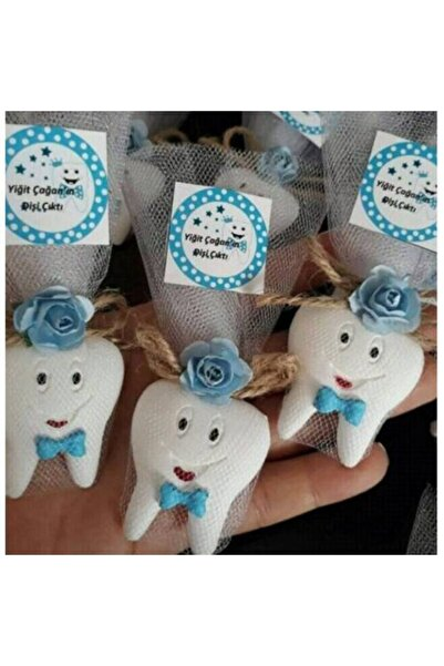 20 Adet Erkek Diş Magnet Bebek Şekeri Diş Magnet Diş Buğdayı Diş Partisi