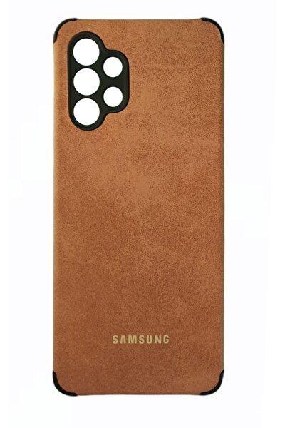 Samsung Galaxy A32 Uyumlu Kamera Korumalı Süet Kılıf Tiger Case