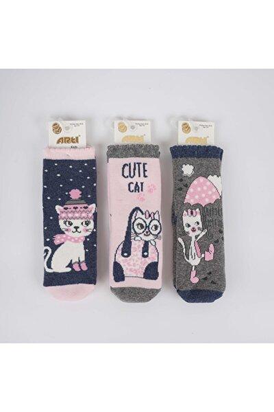 Kutcay 3'lü Kız Havlu Soket Çorap