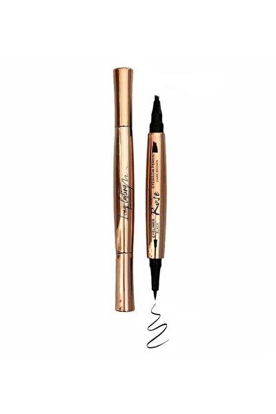 Microblading Kaş Kalemi Kahve Renği & Siyah Su Geçirmez Eyeliner Liner Black