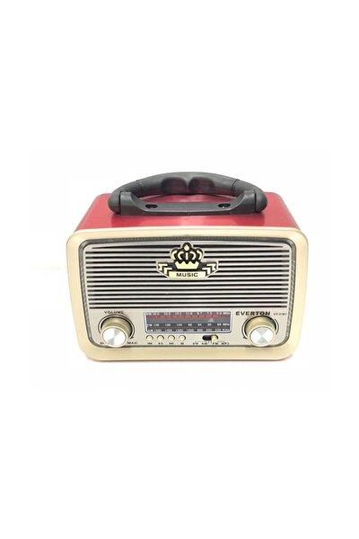 Rt-301 Nostaljik Görünümlü Bluetoothlu Mp3 Çalar Radyo Müzik Kutusu Kırmızı
