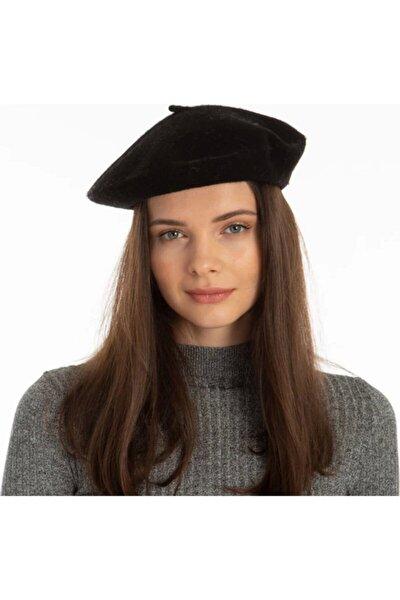Kadın Siyah Orijinal Keçe Fransız Ressam Şapka