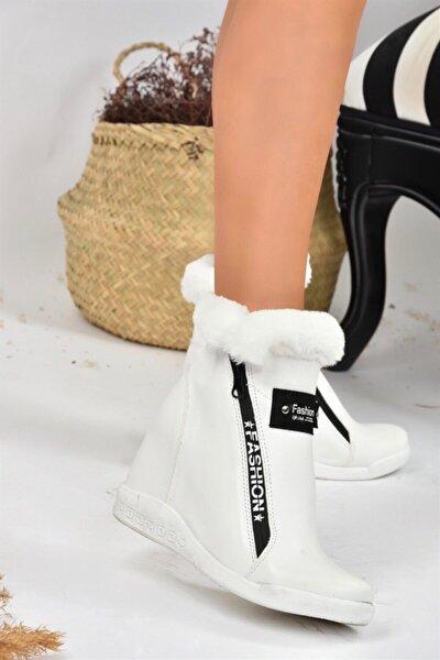 Beyaz Gizli Topuklu Kadın Bot L239610009