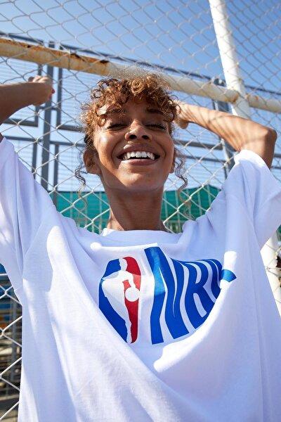 Oversize Fit NBA Lisanslı Unisex Tişört