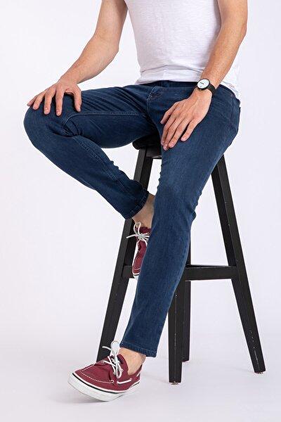 Erkek Mavi Slim Fit Likralı Jean Kot Pantolon 1121