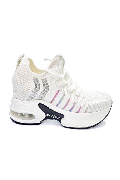 Kadın Air Tabanlı Gizli Dolgu Beyaz Sneaker