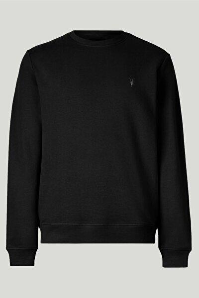 Siyah Renk Basic Bisiklet Yaka Erkek Sweatshirt