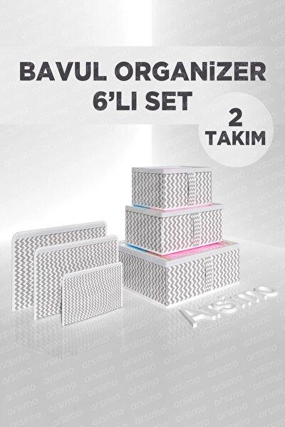2'li Bavul Organizer 6'lı Valiz Düzenleyici Set
