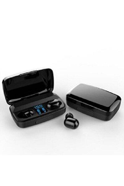 Bluetooth Spor Kulaklık, Led Göstergeli, 1800 Mah Powerbank, Su Geçirmez Tws A10s - Siyah