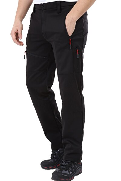 Erkek Tactical Outdoor Su Geçirmez Siyah Softshell Pantolon