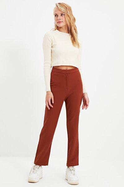 Kahverengi Cigarette Pantolon TWOSS20PL0075