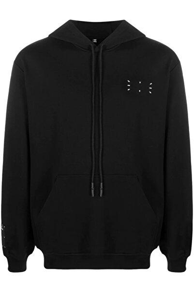 Burj Chest And Back Baskı Unisex Siyah Sweatshirt