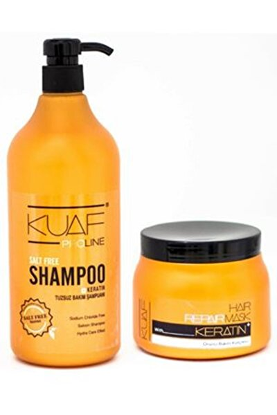 Tuzsuz Şampuan 1 L Keratin Saç Maskesi 500 ml