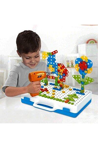 Matkaplı Vidalama Ve 3d Yaratıcı Mozaik Puzzle 198 Parça Creative Portable Box Yapı Lego Oyunu