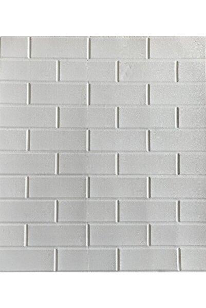 Nw63 Beyaz Düz Tuğla Arkası Yapışkanlı Esnek Silinebilir Duvar Paneli