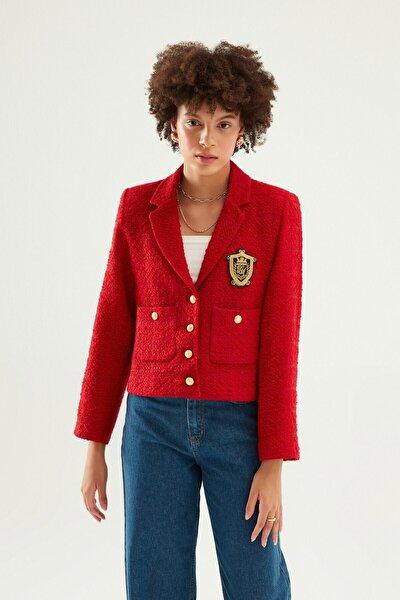 Armalı Blazer Ceket Kırmızı