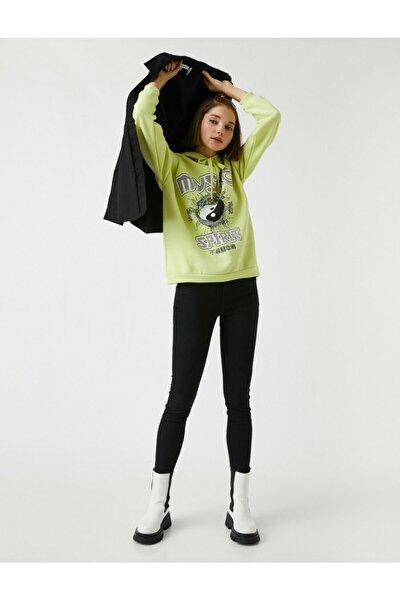 Yüksek Bel Cepli Kot Pantolon - Skinny Jean