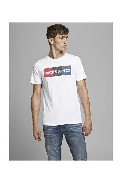 JJECORP LOGO TEE SS O-NEC Beyaz Erkek T-Shirt 101069458