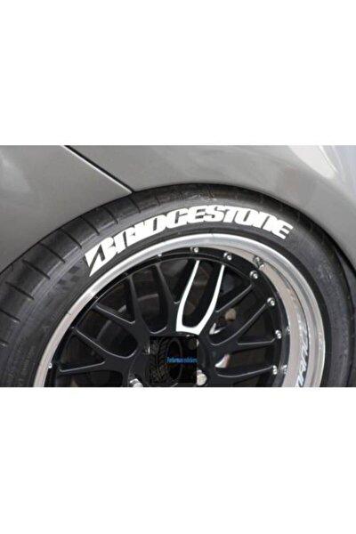 Lastik Yazısı 8x Brıdgestone Kalite Solmaz Araç Motorsiklet Yazı Stiker Seti