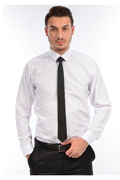Erkek Beyaz Kompak Gömlek
